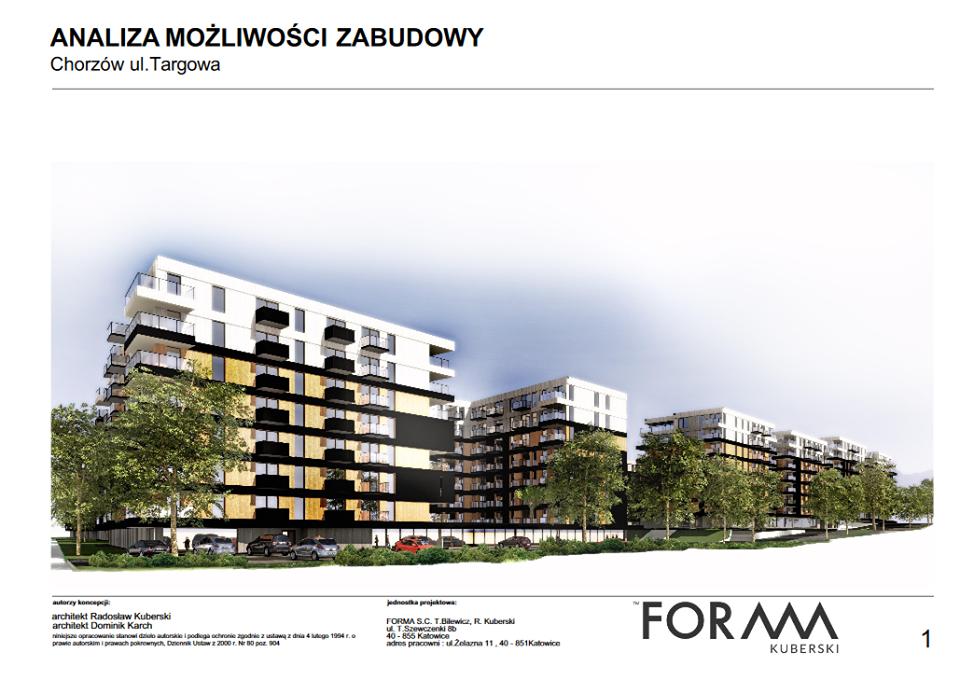 Planowana zabudowa osiedla - Chorzów, ul. Targowa