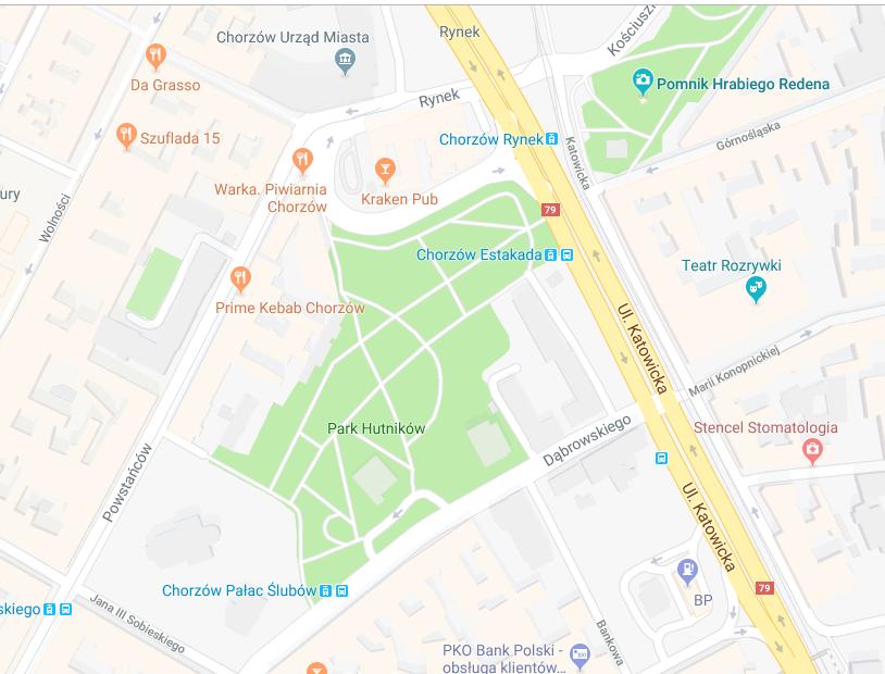 Tężnia Chorzów - lokalizacja